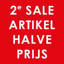 2e artikel -50%, kleding v.a. €2,50