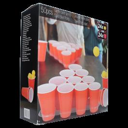Beer pong set met 50 rode cups voor €5 bij Op=Op Voordeelshop