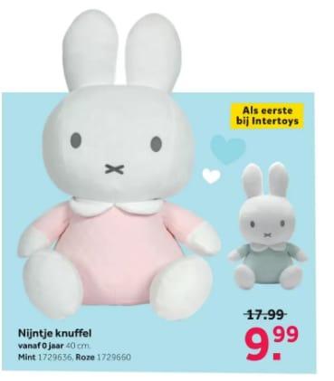 Tiamo Nijntje knuffel – 40 cm – roze voor €9,99