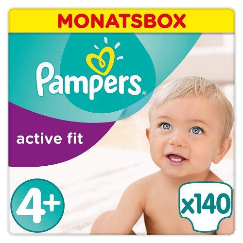 Pampers Active Fit maat 4+ 140 stuks voor €29,92 (€0,21 p/s)