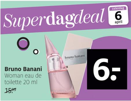Bruno Banani Woman Eau de Toilette 20 ml voor €6
