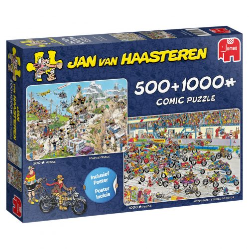 Jumbo Jan van Haasteren 2-in-1 puzzelset Tour de France + Motorrace voor €9,99