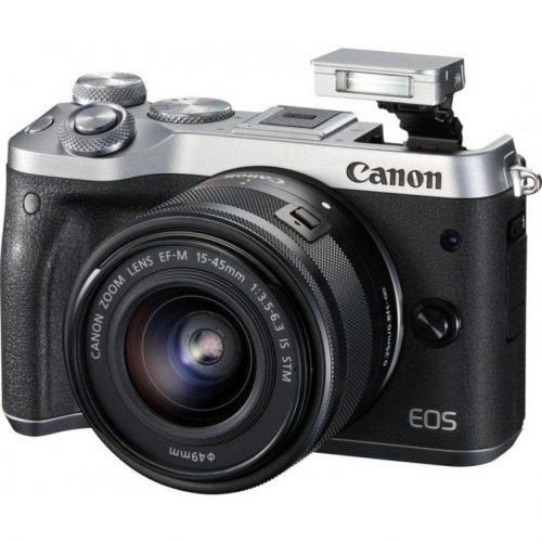 Canon EOS M6 + 15-45mm – Zilver voor €449