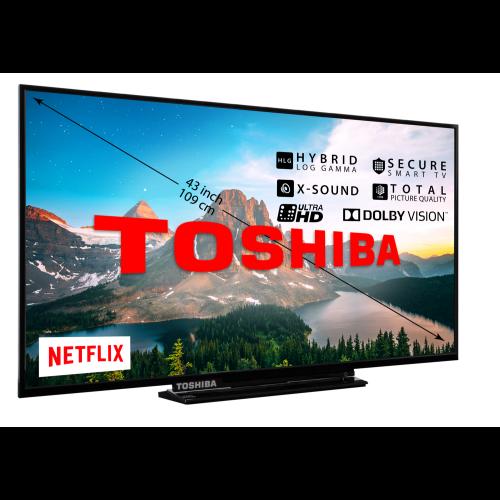 Toshiba 43V5863DG 4K Ultra HD Smart TV 43″ voor €299,99