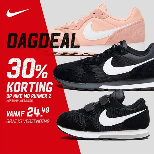 Diverse Nike MD Runner sneakers 30% korting + 10% extra korting door kortingscode