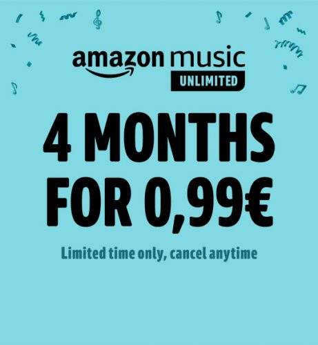 4 maanden Amazon Music Unlimited voor €0,99