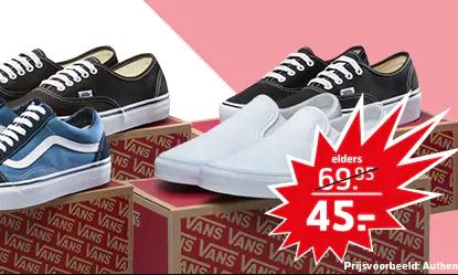 Diverse Vans sneakers voor €45