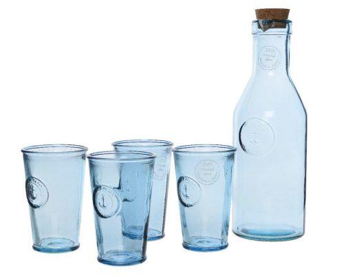 4-delige glazenset met karaf voor €8,98