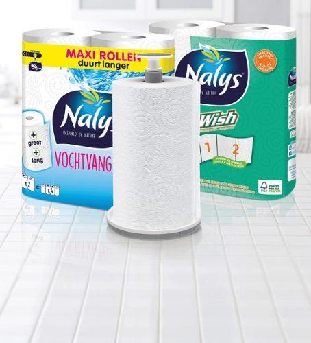 Gratis Nalys keukenrolhouder bij aankoop van Nalys Vochtvangers