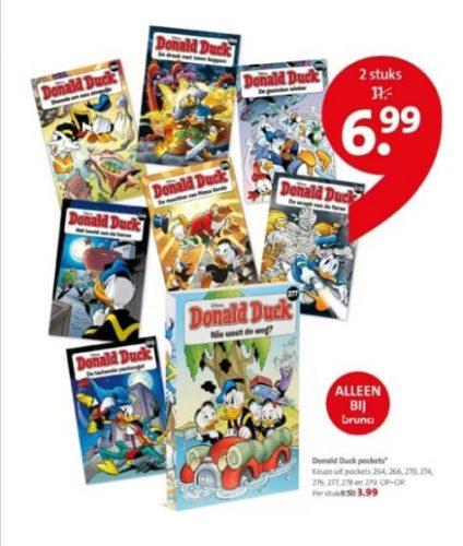 2 Donald Duck Pockets voor €6,99 bij bruna
