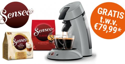 Gratis Senseo apparaat incl pads t.w.v €79,99 voor €4
