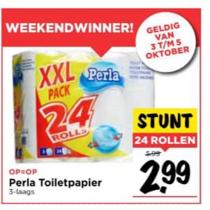 Perla wc papier 3 laags voor €2,99