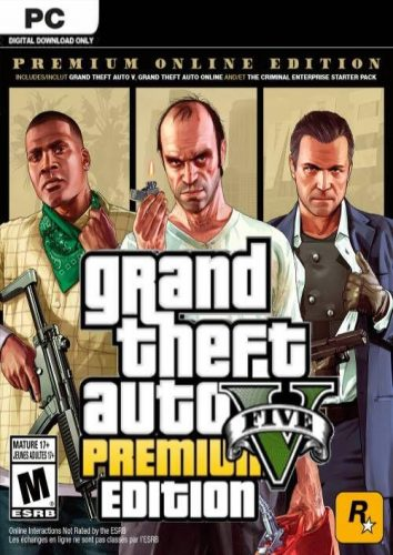 Grand Theft Auto V 5 Premium Online Edition PC voor €12,49
