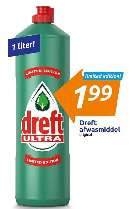 Dreft Afwasmiddel original 1 liter voor €1,99