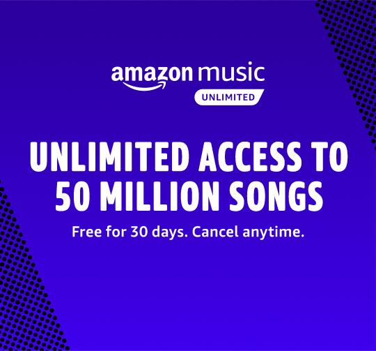 Probeer Amazon music Unlimited 30 dagen gratis