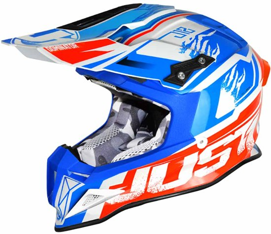Just1 Crosshelm J12 Dominator White/Red/Blue-XS voor €65,29