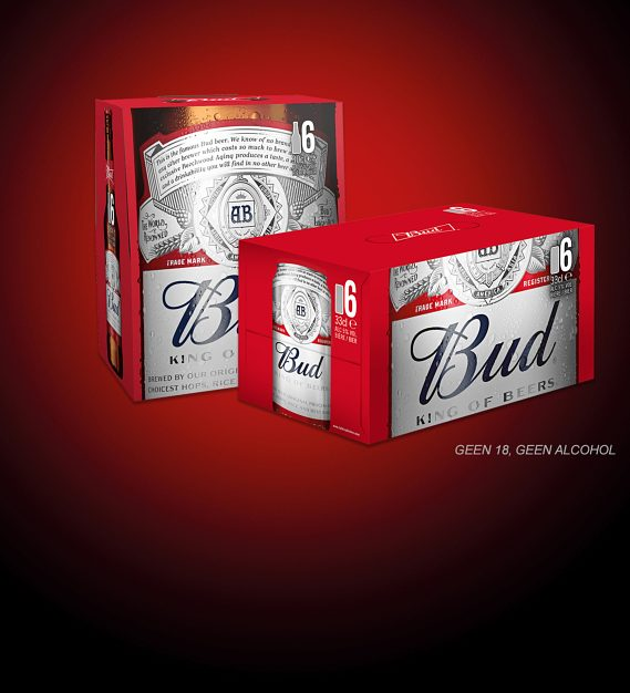 Probeer een Bud 6-pack blik of fles met 50% cashback