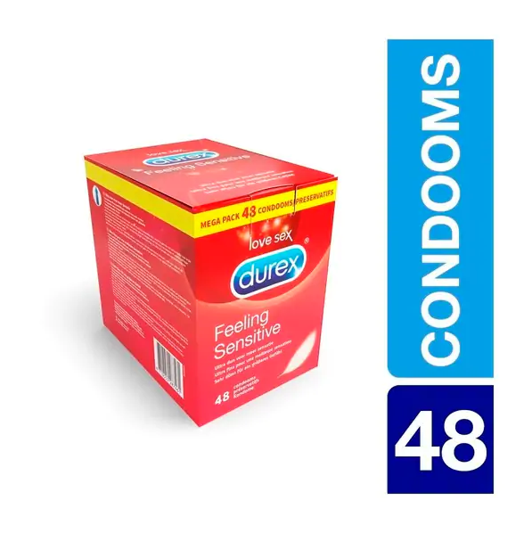Durex Feeling Sensitive Condooms Maxi Pack 48 stuks voor €20,99