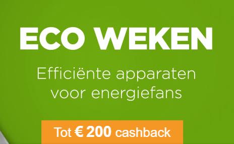 Tot €200 cashback op diverse huishoudelijke artikelen