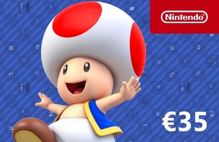 €35 Nintendo Tegoed (Digitaal) voor €30