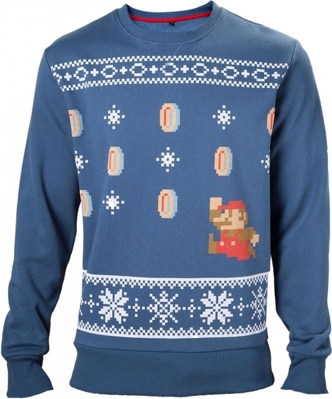 Nintendo – Mario Christmas Sweater Blue voor €28