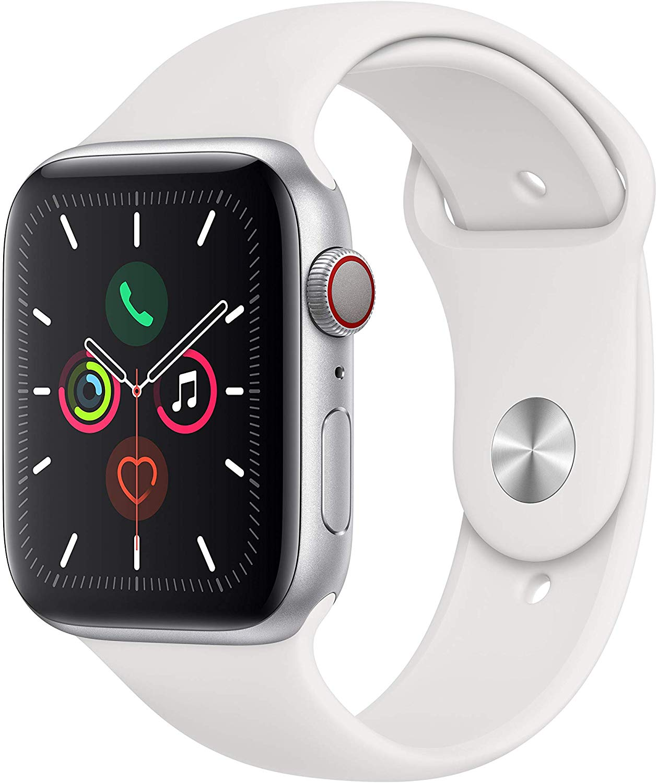 Apple watch 5 series, GPS + 4G, 44mm wit voor €475,32