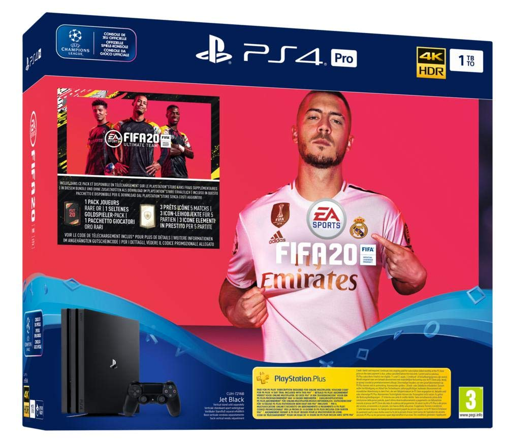 PlayStation 4 Pro (PS4) – Console (1TB) + FIFA 20 voor €353,34