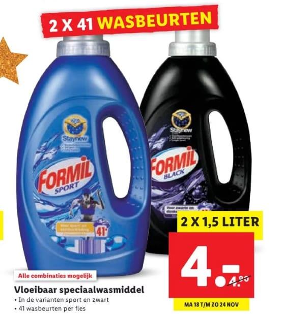 Formil Vloeibaar Speciaal Wasmiddel – 3 liter voor €4
