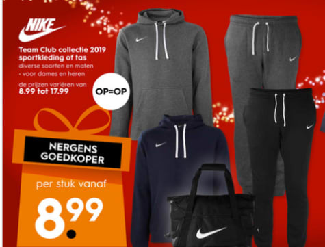Nike Team Club collectie 2019 vanaf €8,99