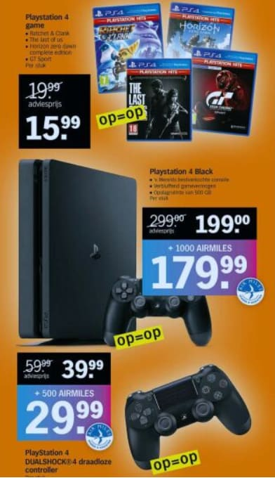 Black Friday Albert Heijn met Playstation aanbiedingen