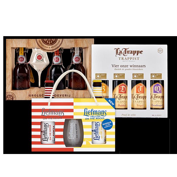 Diverse soorten Speciaalbier geschenkverpakking voor €2,49