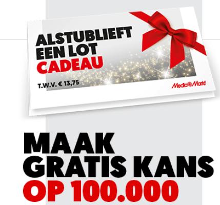 Gratis lot t.w.v. €13,75 cadeau bij MediaMarkt aankoop
