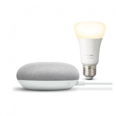 Philips Hue white bulb + Google Nest voor €49,99