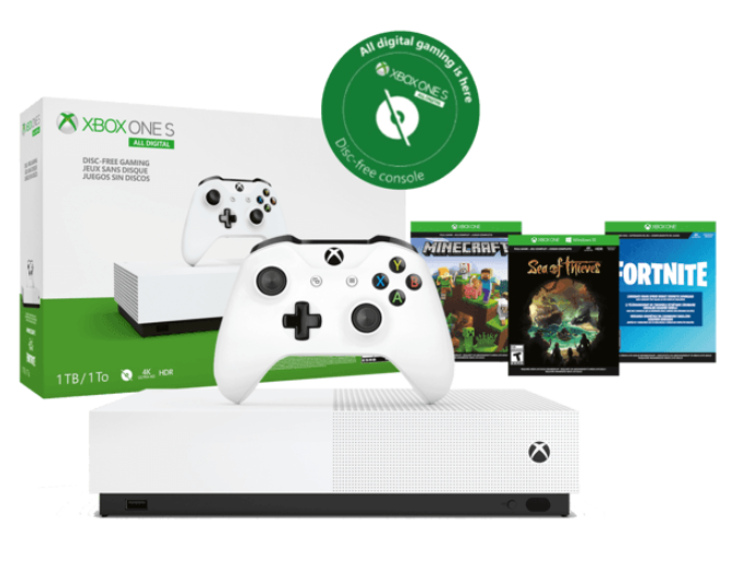 Xbox One S + Minecraft, Sea of Thieves en Forza Horizon 3 voor €125