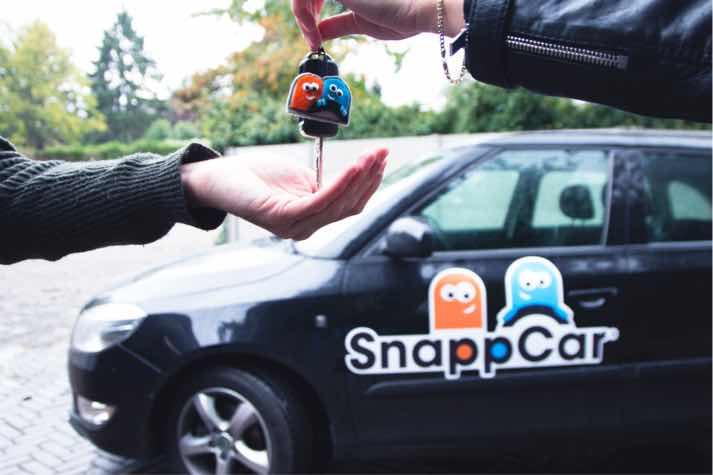 €20,- Korting op je eerste auto rit bij SnappCar!