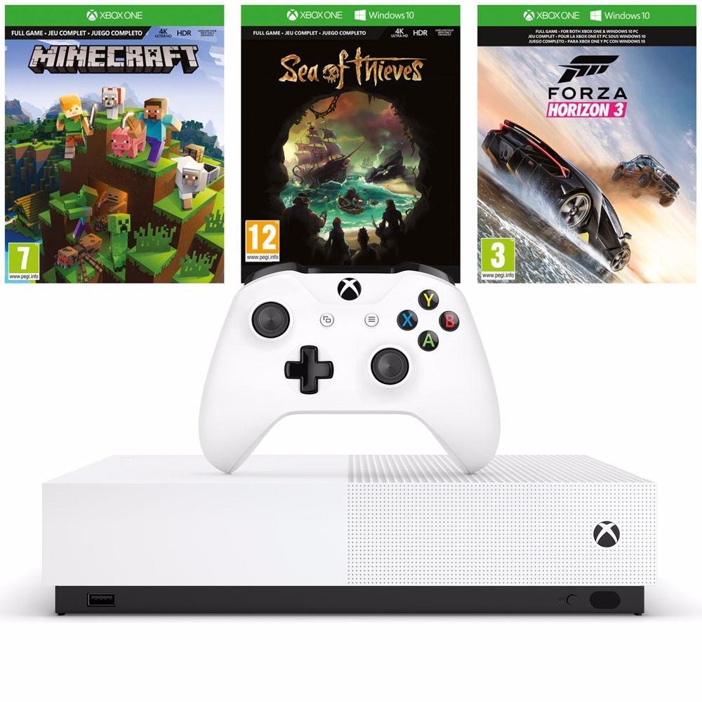 Xbox One S All Digital 1TB met drie digitale games voor €129