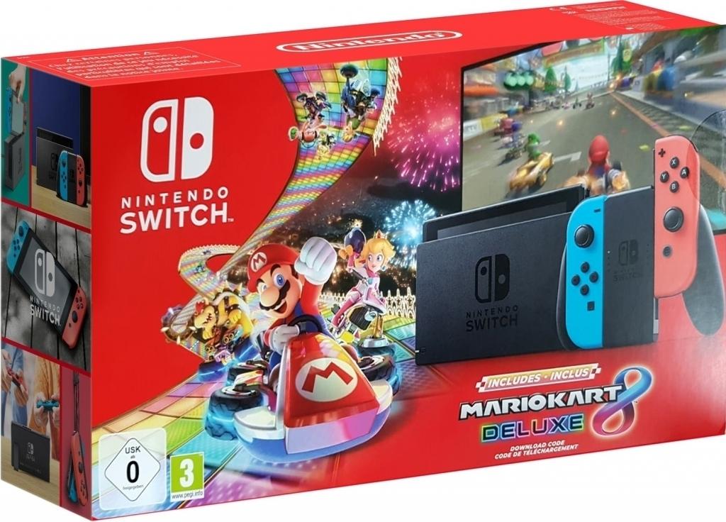 Nintendo Switch (2019 upgrade) met Mario Kart 8 Deluxe voor €329