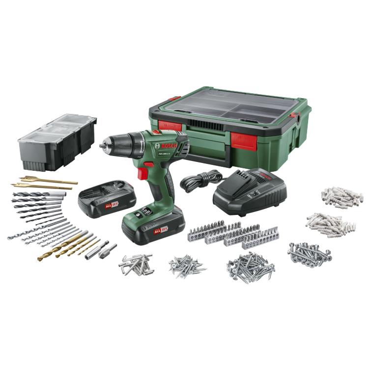 Bosch accu boormachine PSR1800 + SystemBox voor €129,01