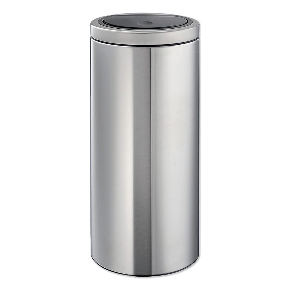Brabantia Touch Bin Flat Top 30 l – Matt Steel voor €55