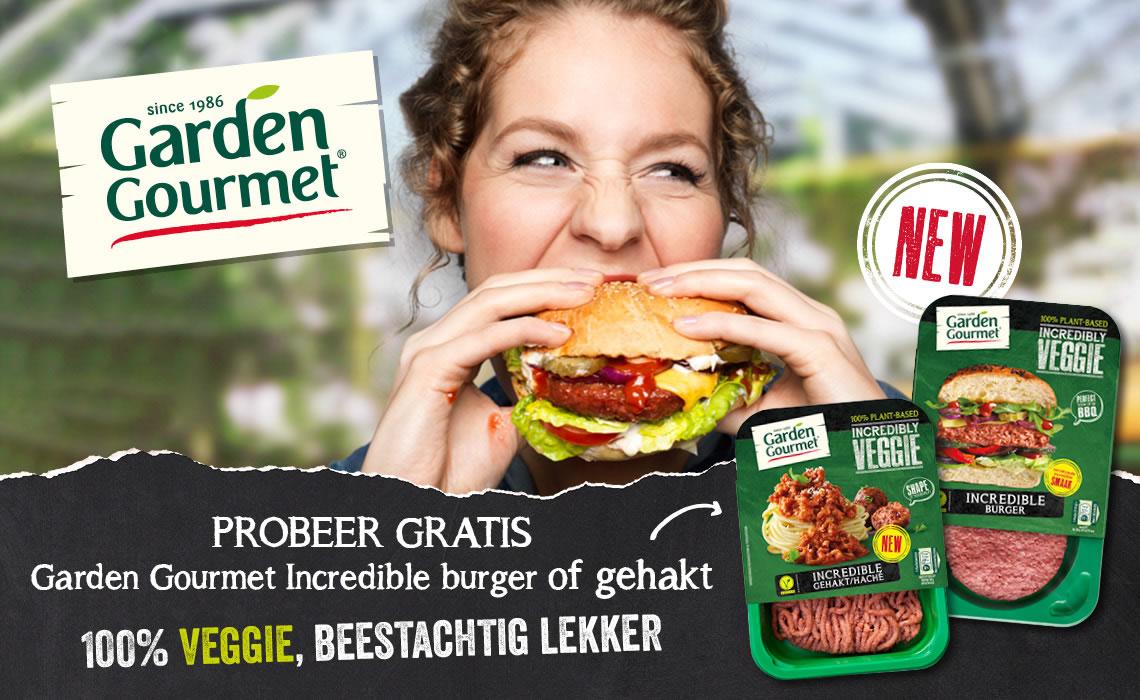 Gratis Garden Gourmet Incredible Burger of Gehakt door cashback