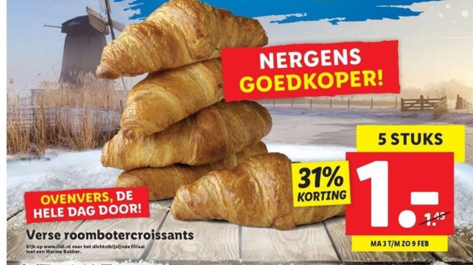 5 Ovenverse Croissants voor €1