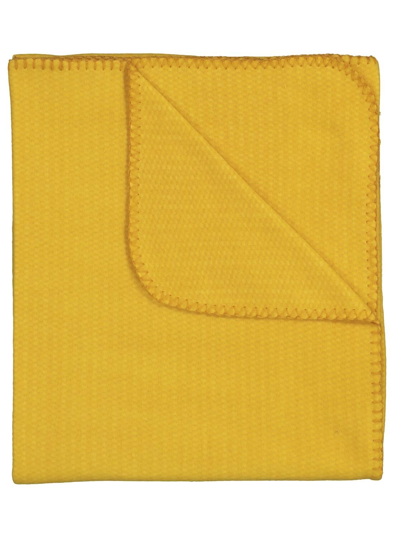 1+1 Gratis op gele fleece plaids 130 x 150