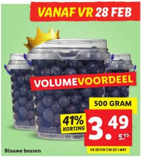 500 gram Blauwe Bessen voor €3,49