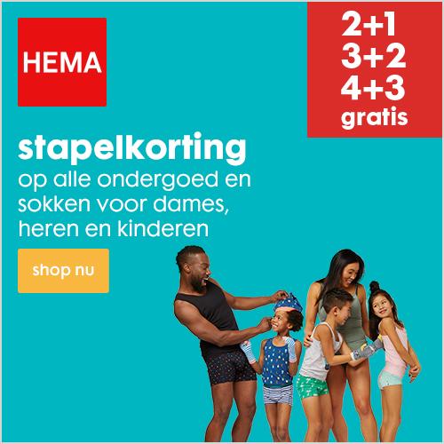 Stapelkorting op ondergoed en sokken bij HEMA
