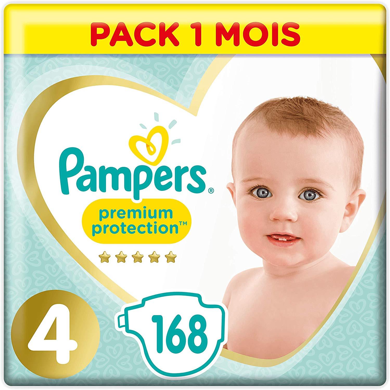 Pampers Premium Protection maandbox maat 4 (9-14 kg) 168 luiers voor €25,99