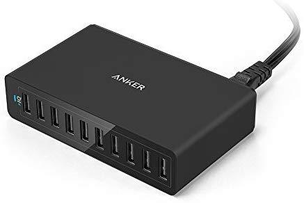 Anker PowerPort 10 (60W 10-poort USB-oplader) voor €26,83