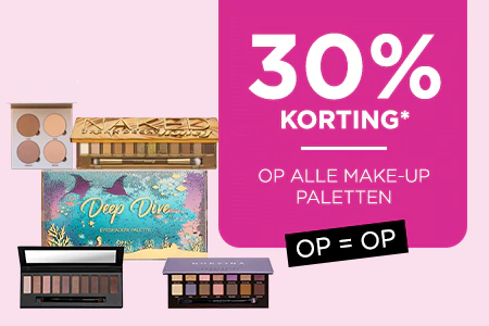 30% Korting op alle make-up palletes bij ICI Paris XL