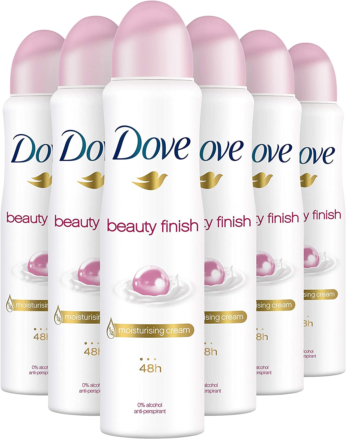 Dove Anti-transpirant Deodorant Spray Beauty Finish 6×150 ml voor €7,46