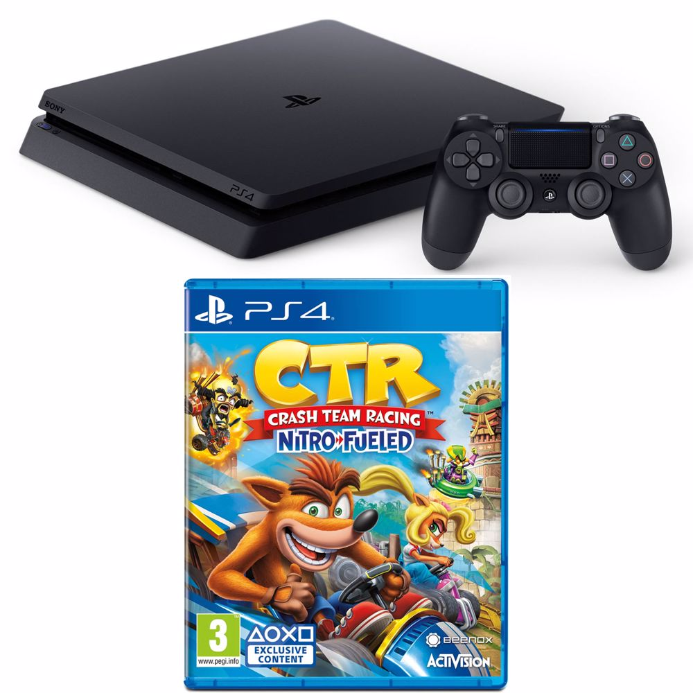 PlayStation 4 Slim 500GB Crash Team Racing Bundel (Zwart) voor €199