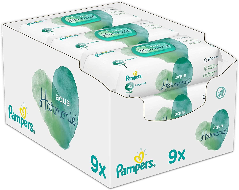 Pampers Aqua Pure 9×48 babydoekjes voor €11,50
